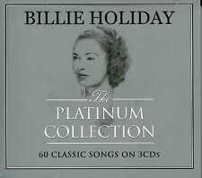 BILLIE HOLIDAY THE PLATINUM COLLECTION - 3 CD BOX SET - 60 CLASSIC SONGS