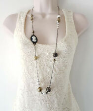 Mixed Metals Pearl Chain Costume Necklaces & Pendants