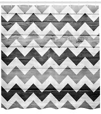 Geometric Illustration Decorations Chevron Wood Background Design Shower Curtain