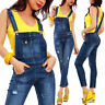 Salopette donna overall denim jeans tuta aderente skinny sexy TOOCOOL A1539