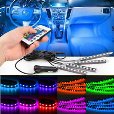 Car Interior Footwell 9 LED Strip Lights RGB Multicolour Remote Atmosphere Decor
