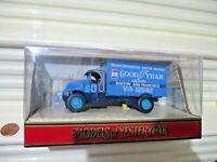 Matchbox Models of Yesteryear 1990 Y33A 1930 BLUE GOODYEAR MACK AC TRUCK NuBoxed