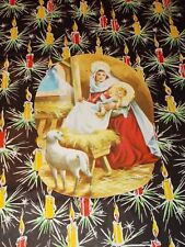 VTG 1955 EUREKA CHRISTMAS DIECUT CARDBOARD DECORATION NATIVITY STAR MANGER NOS