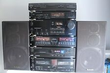 Vintage Original Technics Hi-Fi Stereo Stack System With Speakers + Manuals