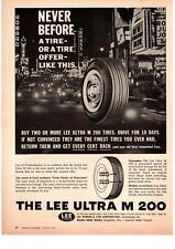 1961 Lee Rubber & Tire Corp Conshohocken PA Ultra M 200 Las Vegas Strip Print Ad