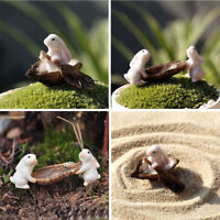 Cute Rabbits Animal Miniature Toys Fairy Garden Moss Micro Landscape Ornament