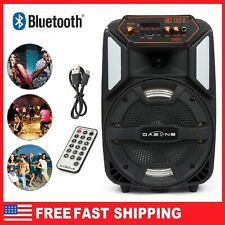 Portable Party LED Speaker USB FM Control Bluetooth Stereo Sound Rechargeable US