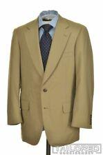 PAUL STUART Classic Solid Beige 100% Wool Jacket Pants SUIT Mens - 40 R