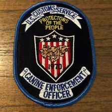 US Customs Federal Police K9 Canine Unit Patch United States