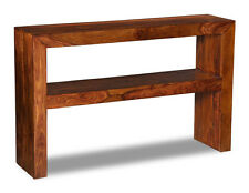 LIVING ROOM CUBA SHEESHAM CONSOLE TABLE (C23W)