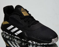 adidas Pro Bounce 2019 Low Men's Black White Gold Basketball Sneakers Shoes