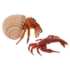 2pcs Realistic Sea Animal Crab Model Figures Nature Toy Home Decor Gifts
