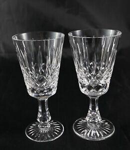 2 Stunning vintage Stuart crystal glasses - sherry toasting or small wine signed