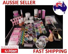 36 Acrylic Glitter Liquid Nail Brush 3D Molds UV Powder Manicure Set Kit Tips