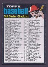 1971 Topps #206 3rd Series Checklist NM Plus
