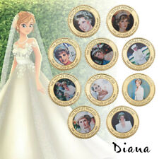 WR Princess Diana Commemorative Gold Coin Set 20th Anniversary Memorabilias 24K