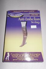 Bell-Horn 18 Compression Anti Embolism Stockings Latex Free Closed Toe Beige