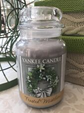 22 OZ YANKEE CANDLE FROSTED MISTLETOE LARGE JAR CHRISTMAS HOLIDAY SCENTED CANDLE