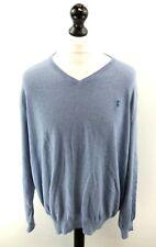 RALPH LAUREN Mens Jumper Sweater UK 2XL US XL Blue Cotton