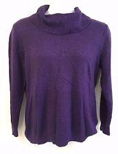 Basic Edition Womens XL Purple Cowl Neck Sweater