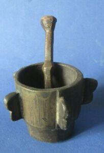 mortier ET PILON ancien en bronze