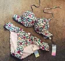 Ladies Womens Floral Bikini Swimwear Set New 8-10 Summer Holiday with tags