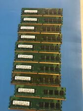 LOT OF 10 MATCHING 1GB DDR2 PC2-6400 800MHz 1RX8 240 PIN DIMMS MEMORY RAM