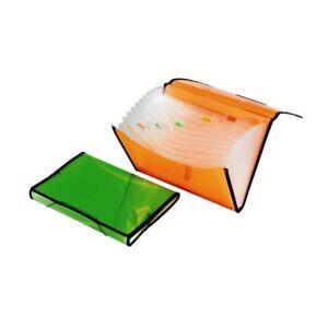 Cartellina Portadocumenti Porta Documenti Auto Plastica 12 Scomparti Colorat dfh