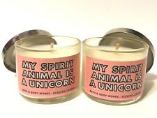 LOT 2 BATH & BODY WORKS LAVENDER MACARON FILLED SCENTED 1.3 OZ MINI CANDLE