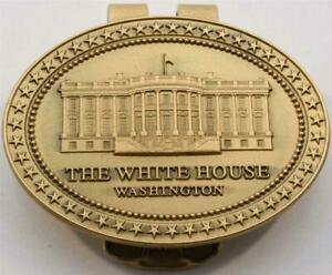 2020 President Donald Trump White House Gift Bronze Metal Money Clip SIGNED