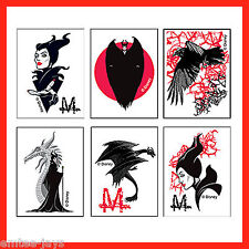 Maleficent Tattoos x 12-Party Favours - Sleeping Beauty Princess Tattoos Evil