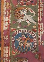 BR82389 postcard horse and lion panel wool tapestry egypt africa