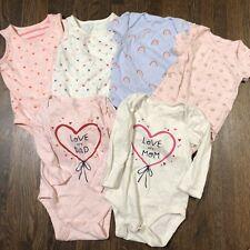 Baby Gap 6 Piece Bodysuit Lot Sizes 6-12 12-18 Months Sleeveless SS LS