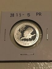 2015 S SILVER PROOF AMERICA THE BEAUTIFUL KISATCHIE 90% SILVER QUARTER
