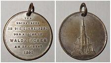 Tragbare Medaille Zur Erinnerung an die Einweihung d. Kirche zu Waldkirchen 1861