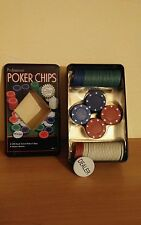 box scatola 100 poker chips completa fiches giochi carte