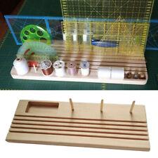 Hardwood Quilting Patchwork Ruler Rack with Spool Store Pins Tacks Bobbin