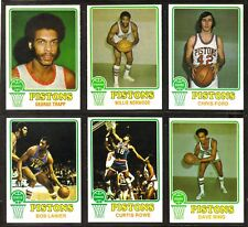 1973-74 Topps DETROIT PISTONS Dave Bing ~ Lot of (6) Basketball Cards