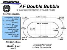 LIONEL AMERICAN FLYER FASTRACK DOUBLE BUBBLE TRACK PACK S GAUGE R20 Layout NEW