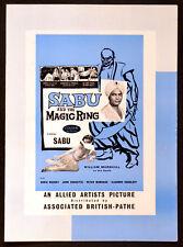 SABU AND THE MAGIC RING 1957 Sabu William Marshall Daria Massey UK CAMPAIGN BOOK