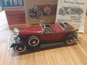 Rare Pyro 1:32 Plastic Model Kit 1932 Lincoln Dual Cowel Phaeton, MIB
