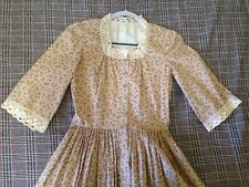 Prairie Pioneer Dress Historical Costume Wild West Cotton Calico Gown