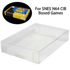 Clear PET Protective Box Case Sleeves Covers For SNES N64 CIB Boxed Games