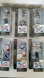 "NHL MCFARLANE 3"" FIGURE 2 FIGURES/PACK WINGS MAPLE LEAFS MONTREAL RANGERS CUP"
