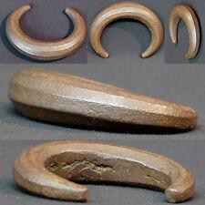 N4 Art Afrique 18èm superbe bracelet en bronze patiné 310g9c bijou ancien rare