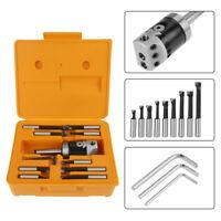1 Set Milling Machine F1 12 MT2-M10 50mm Boring Head W/ 9pcs 12mm Boring Bars