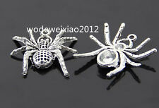 10pc Tibetan Silver spider Charm Pendant accessories Beads wholesale PL207