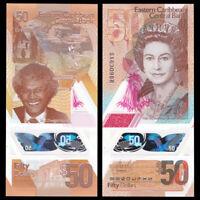 East Caribbean 50 Dollars, 2019, P-58, Queen II, Banknotes, UNC