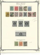 Great Britain Collection 1902-10 on Scott Page, #127/138