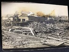 Kahler's Furniture Factory Ruins Tornado 1917 New Albany Indiana RPPC